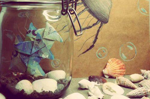Offrir de l'argent : l'aquarium à billets