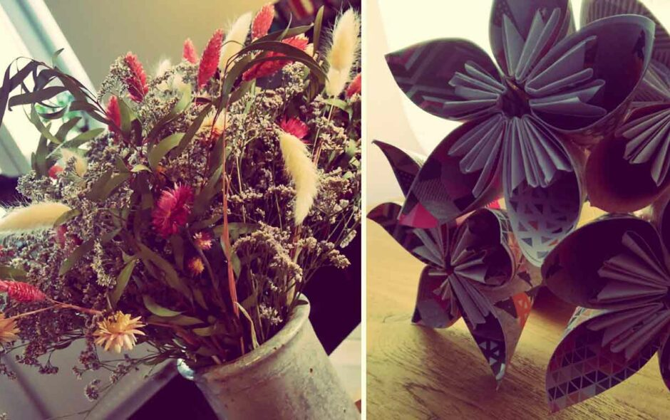 offrie des fleurs
